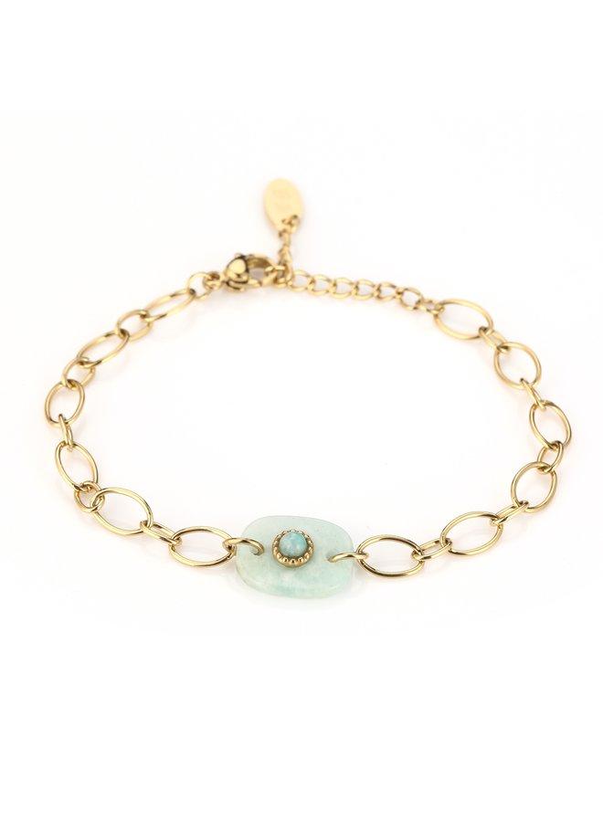 IBIZA-Armband : Blue/Gold
