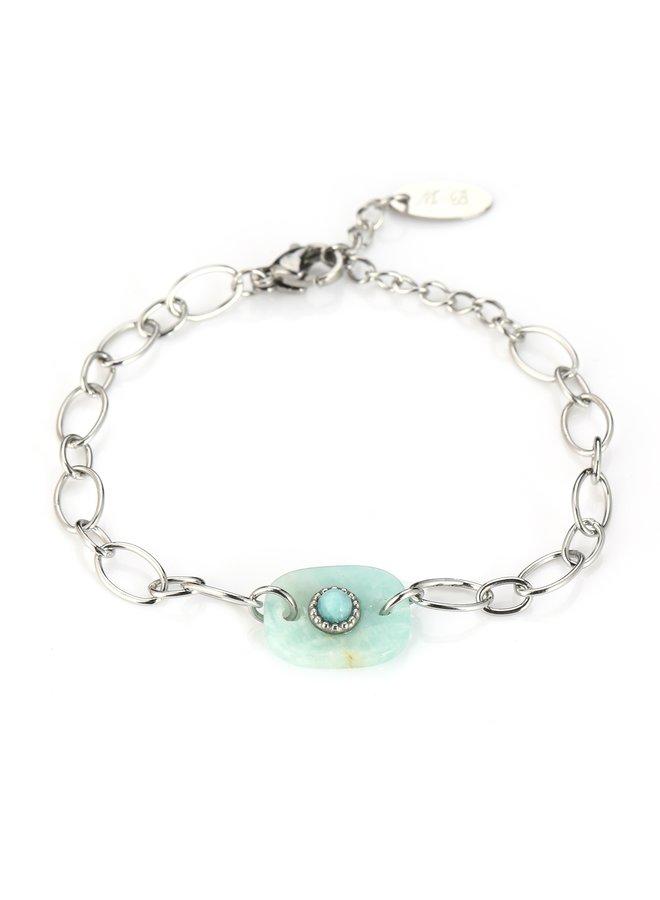 IBIZA-Armband : Blue/Silver