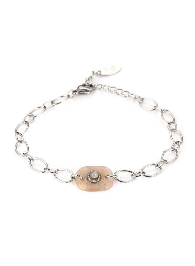 IBIZA-Armband : Yellow/Silver