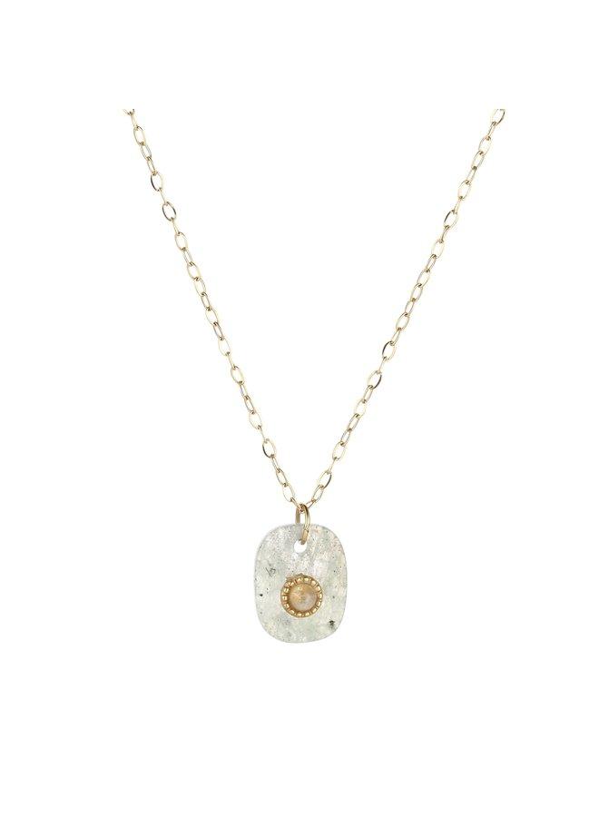 IBIZA-Halsketting : Grey/Gold
