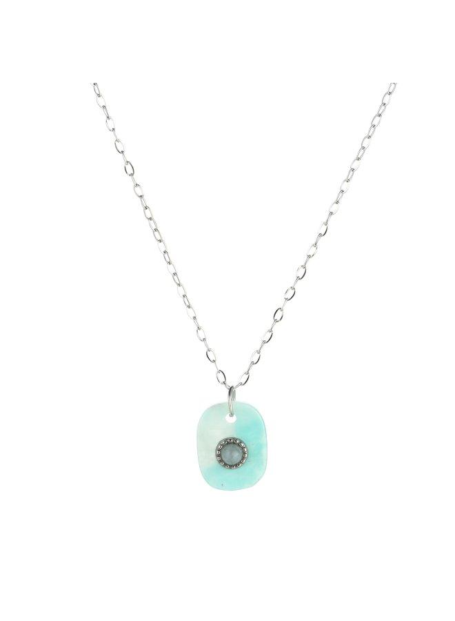 IBIZA-Halsketting : Blue/Silver