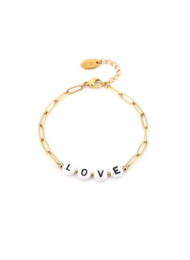 LOVE-Armband : Gold