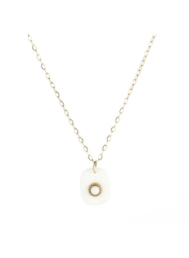 IBIZA-Halsketting : White/Gold