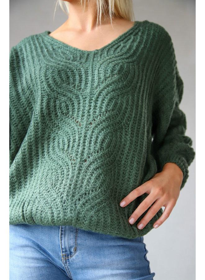 Cagua Casual Sweater : Groen