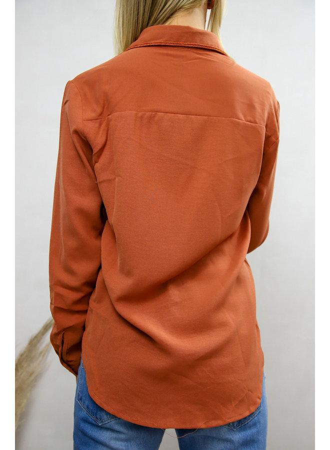 Olinda Orange Shirt