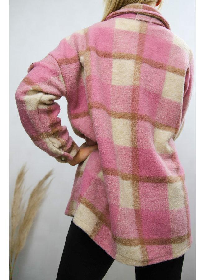 Hampton Court Vest : Roze
