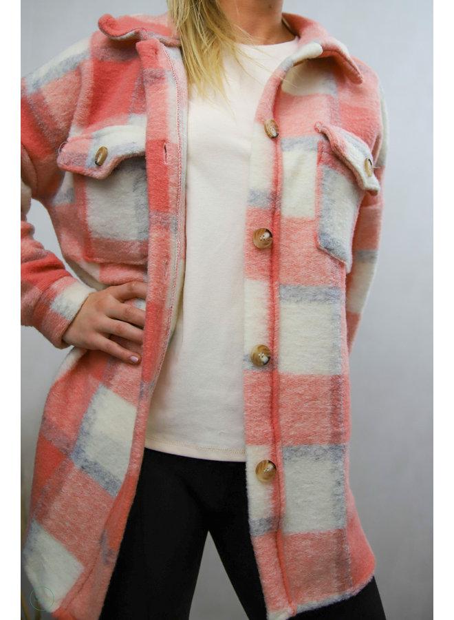 Hampton Court Vest : Coral