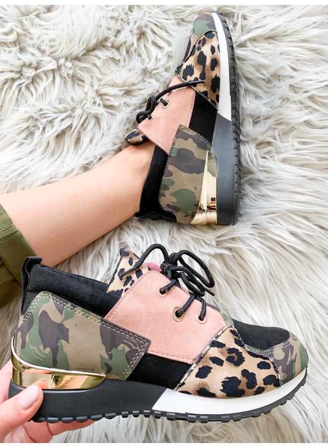 Santiago Army Leopard Sneaker