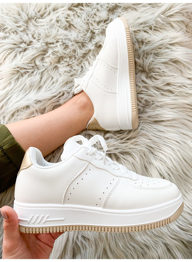 Vacay Vicky Sneaker : Wit/Goud