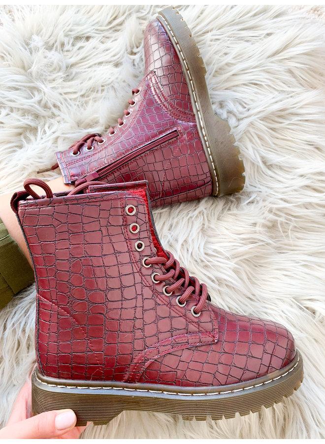 Baidoa Burgundy Boots