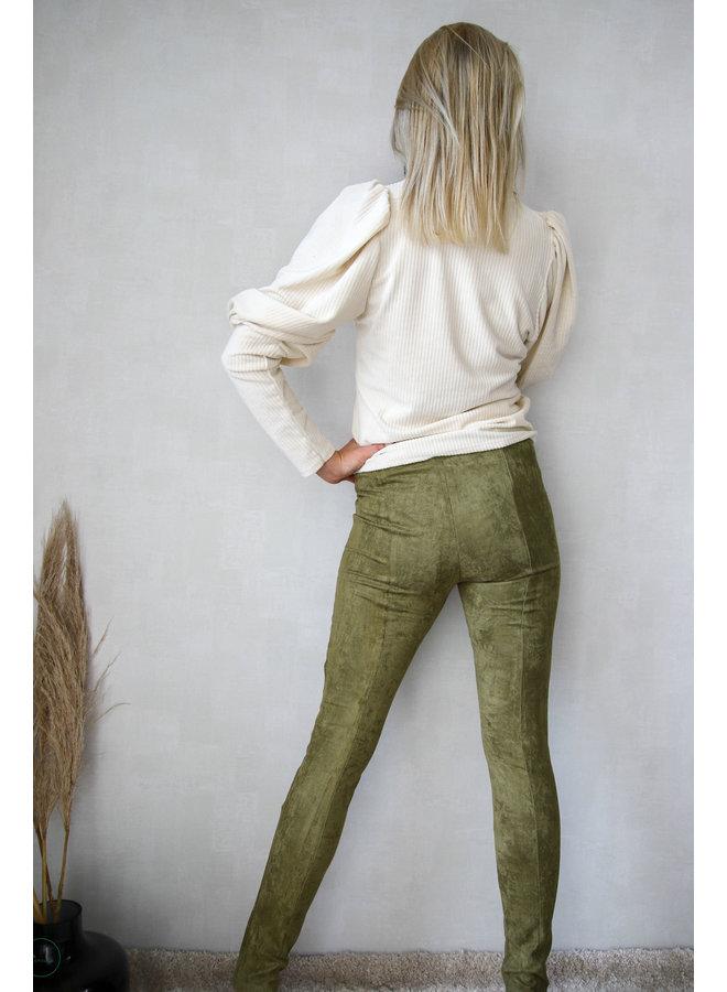 Balloo suède legging : Groen