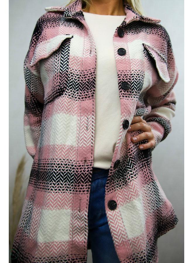 Campton Midi Vest : Roze/Zwart