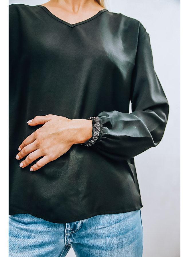 Bago Blouse : Zwart