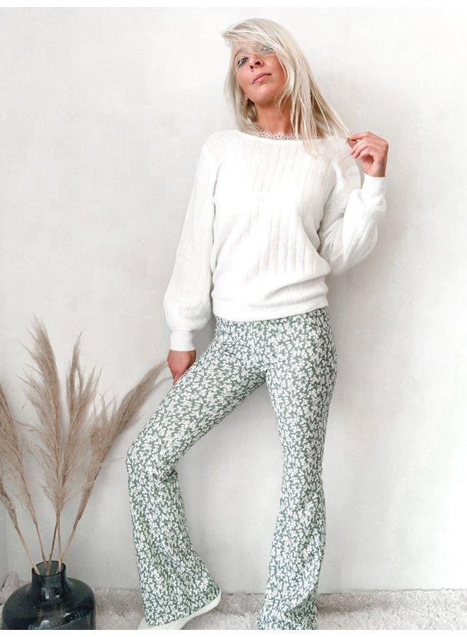 Happy Flower Pants: Groen