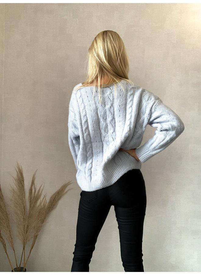 Bogotá Sweater : Ijsblauw