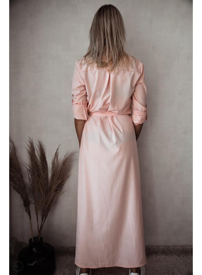 Athene Lang Kleedje : Roze