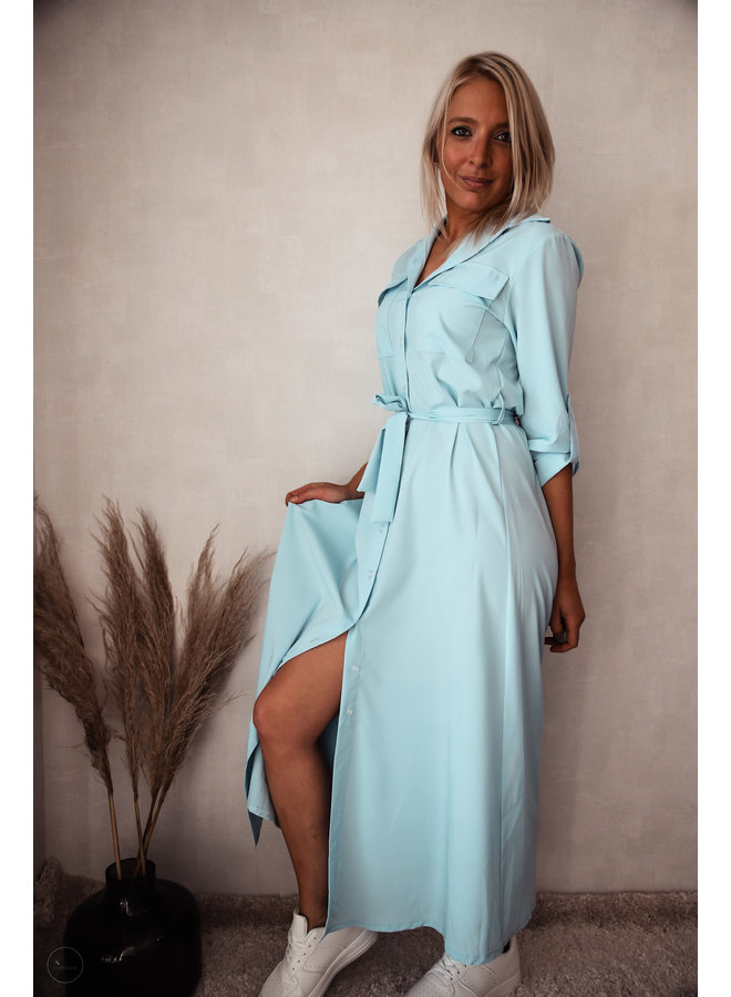 Athene Lang Kleedje : Blauw