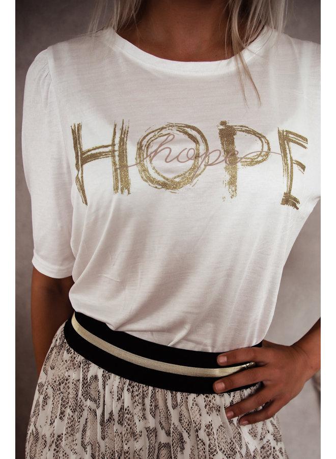 ♥ HopeT-Shirt : Wit ♥