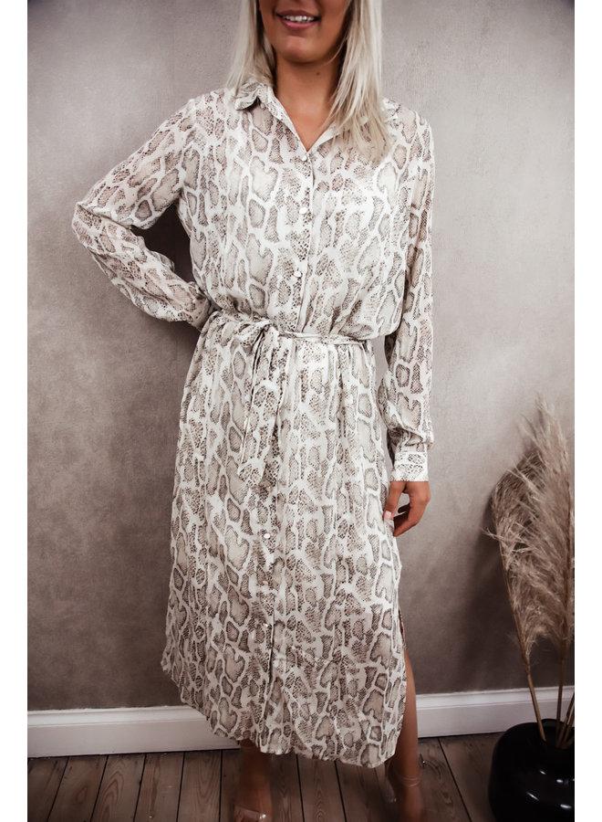 Claudy Summer Dress SnakePrint