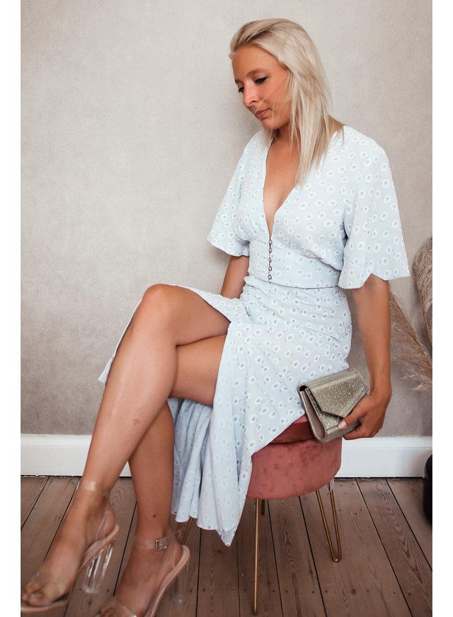 Monterosso Bloem Rok : Blauw