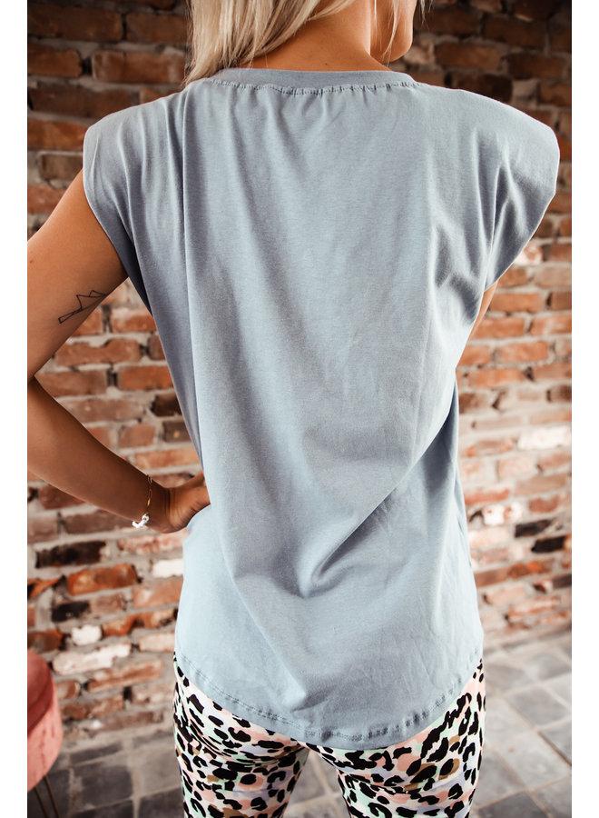 Cali T-shirt : Blauw