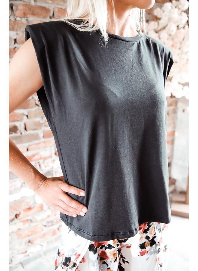 Cali T-shirt : Zwart