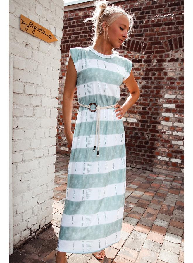 Maia kleed : Appleblauwzeegroen