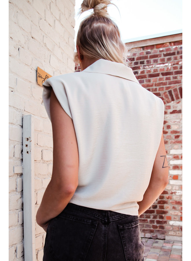 Toulouse Top : Beige