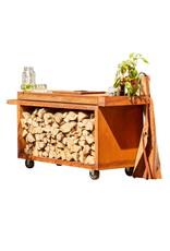 OFYR Mise en Place Table Corten 135 PRO Teak Wood