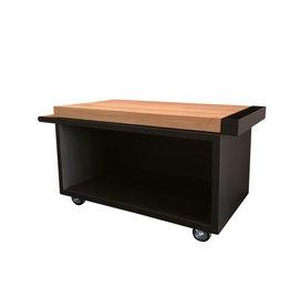 OFYR Mise en Place Table Black 135 PRO Teak Hout