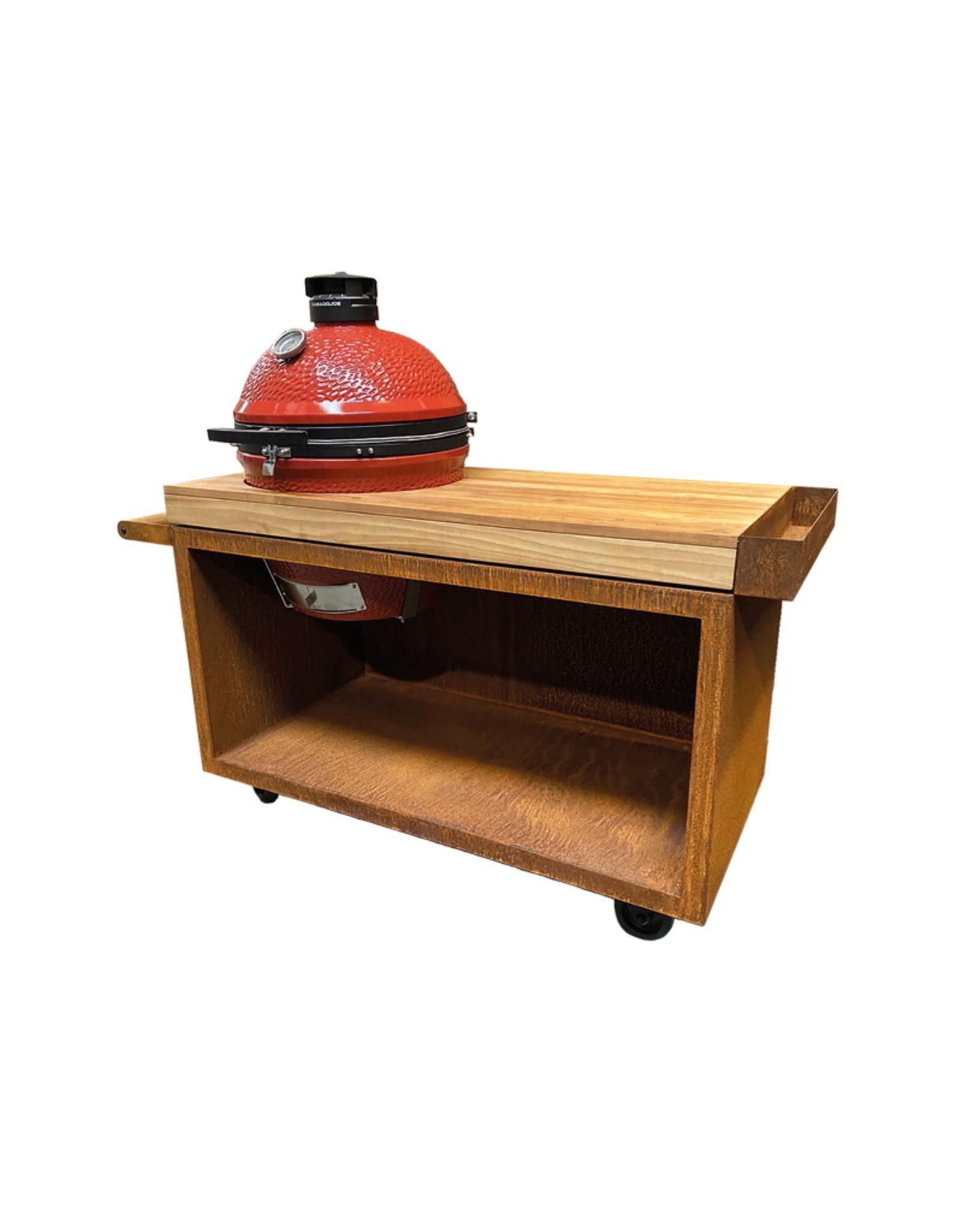 OFYR Kamado Table Corten 135 PRO Teak Wood KJ