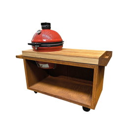 OFYR Kamado Table Corten PRO Teak Wood KJ