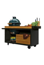 OFYR Kamado Table Black PRO Teak Wood BGE