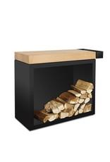 OFYR Butcher Block Storage 90 Black Teak Wood