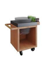 OFYR Kamado Table Corten 65 PRO Concrete BGE
