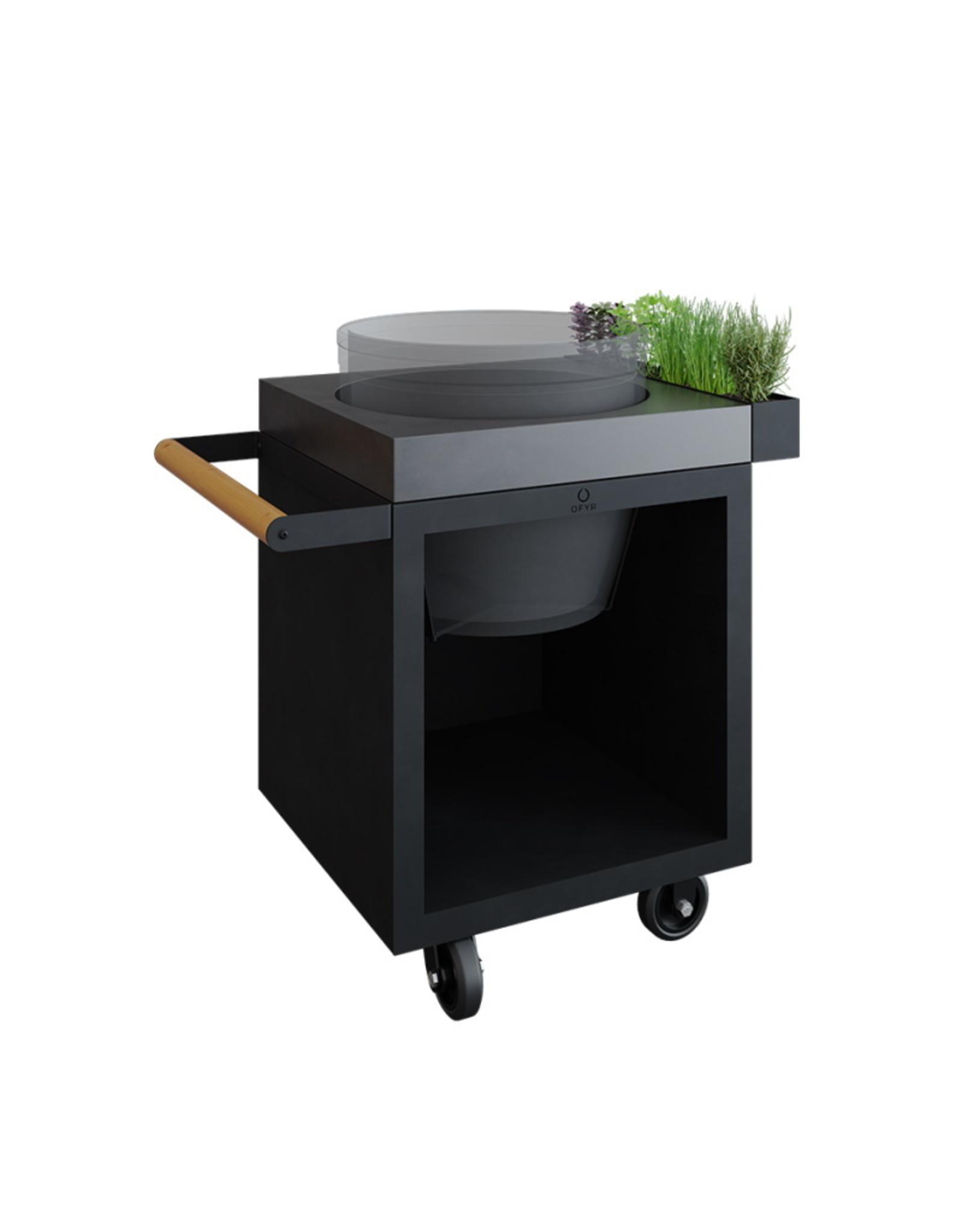 OFYR Kamado Table Black 65 PRO Concrete BGE