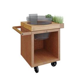 OFYR Kamado Table Corten 65 PRO Teak Wood KJ