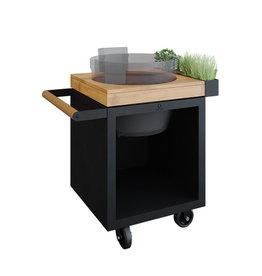 OFYR Kamado Table Black 65 PRO Teak Wood KJ