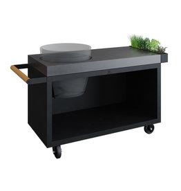 OFYR Kamado Table Black 135 PRO Concrete BGE
