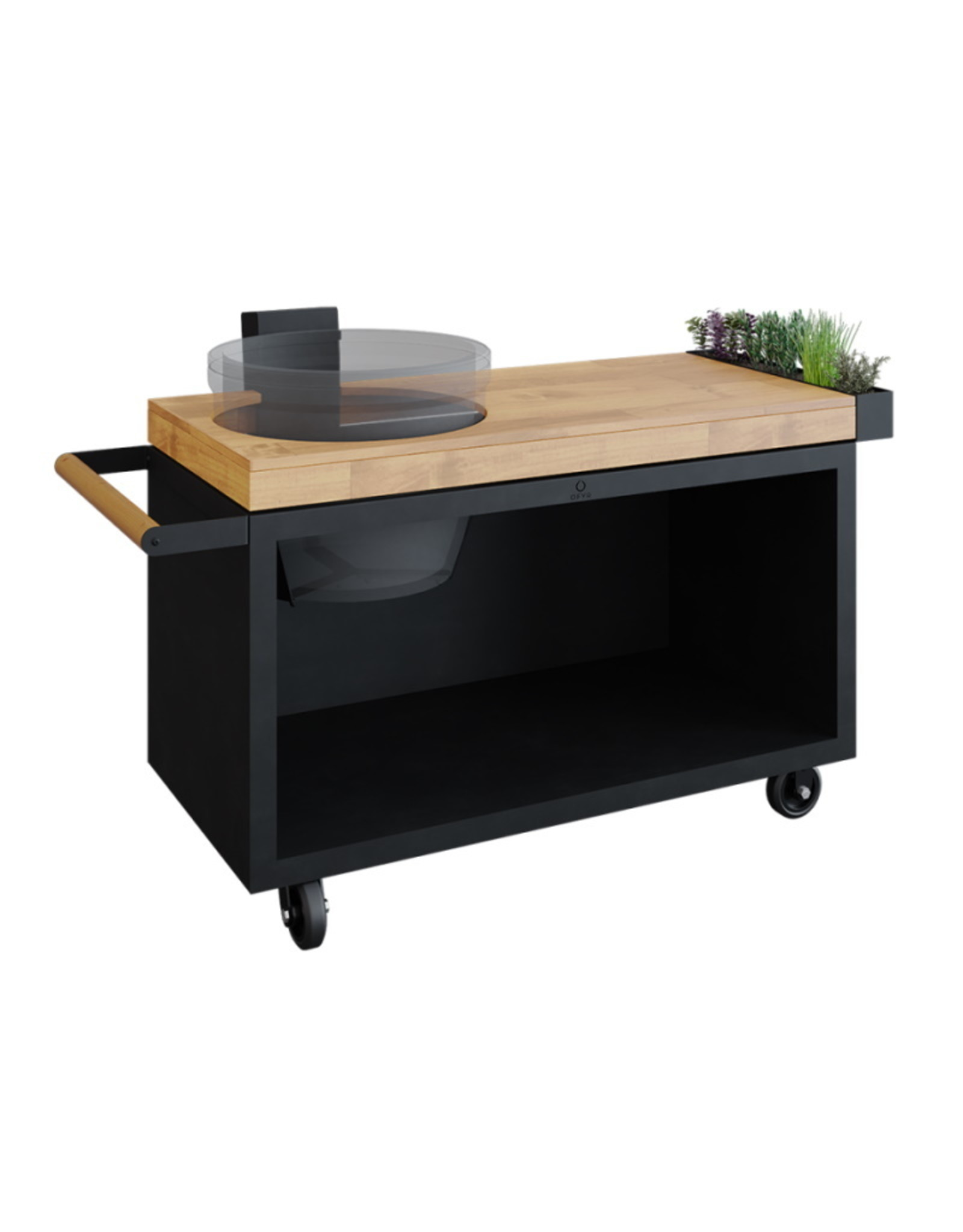 OFYR Kamado Table Black 135 PRO Teak Wood KJ