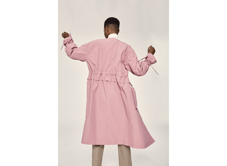 Biona Knot trench heather rose SF