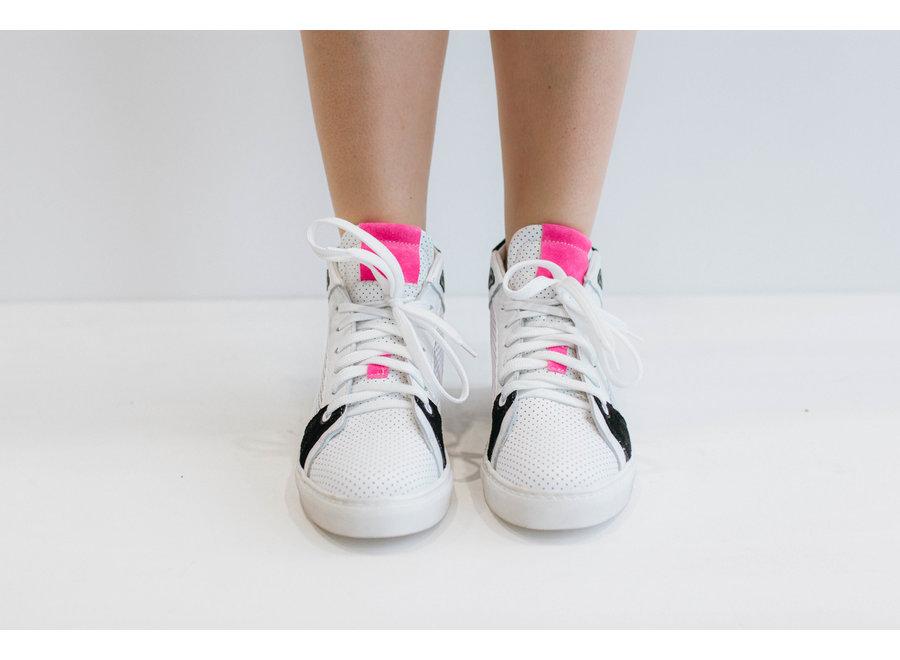Sneaker wit/zwart love