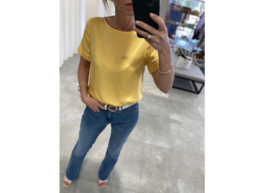 Crissy shirt buff yellow ichi