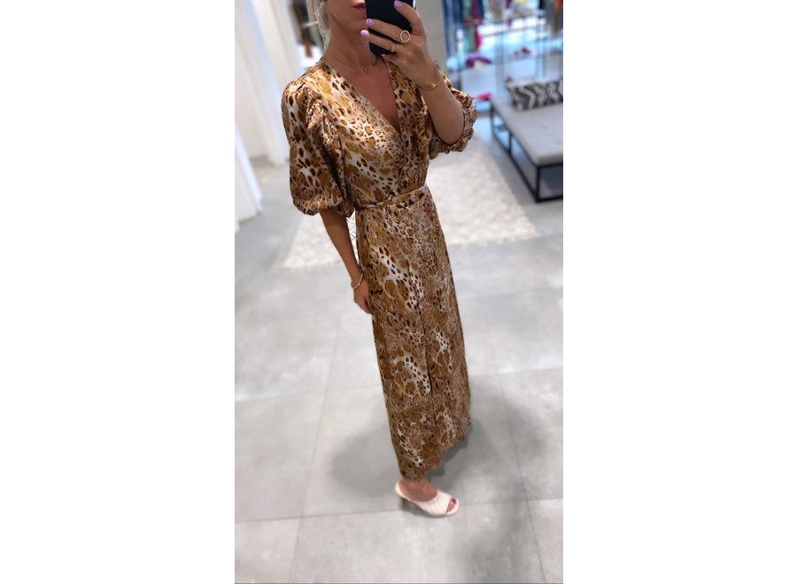 Daria wrap dress walnut CC