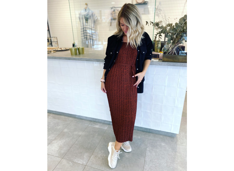 Kinsley maxi strap dress paprika SF
