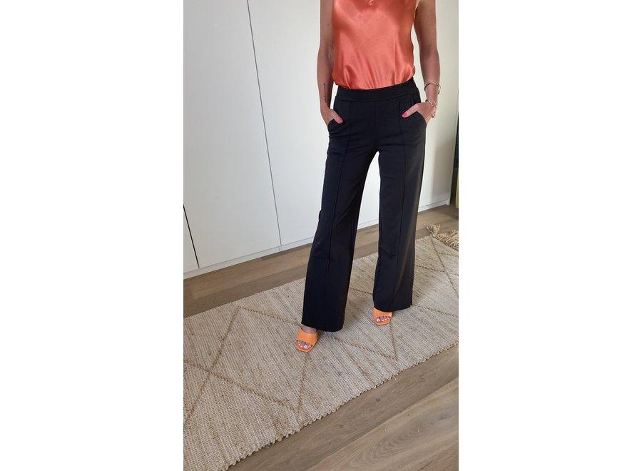 Kate wide pants black long