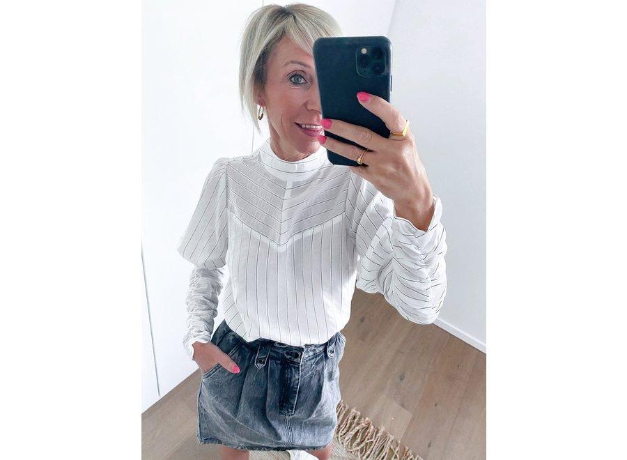 Dina puff stripe shirt