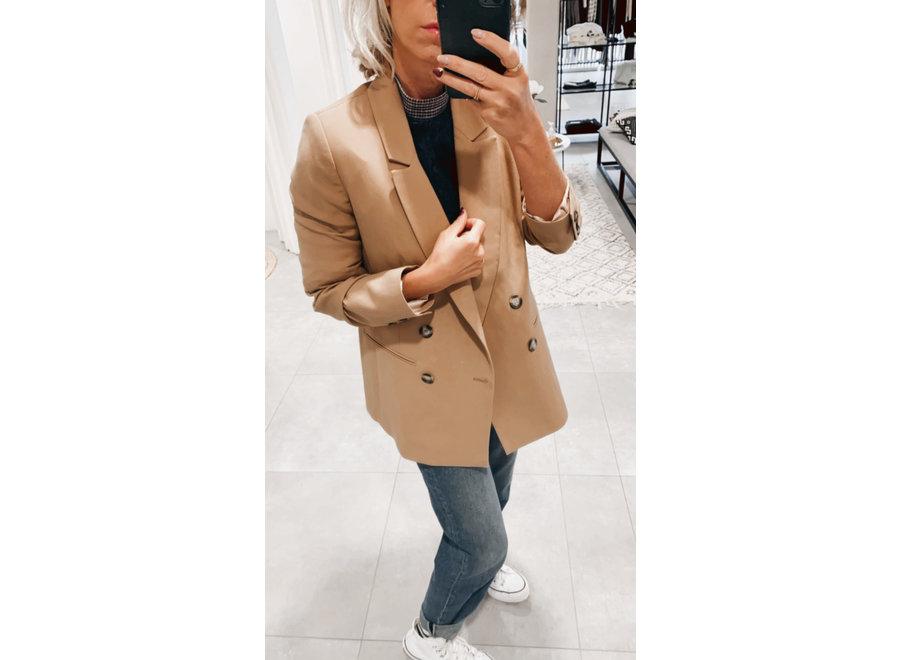 Kim double breasted blazer beige