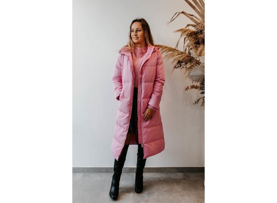 Puffa jacket fuchsia pink