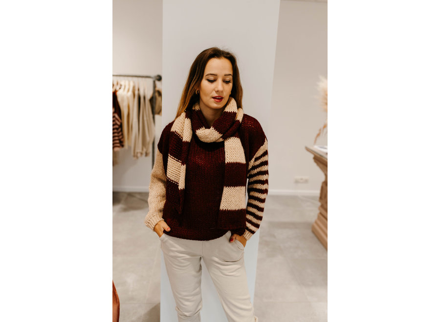 Pull Ally duo bord/beige 2320